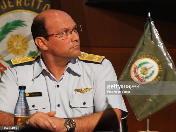 Peruvian Air Force General Oscar Velarde Nuñez presented to the press the VI edition of the International Salon of Technology for Defence SITDEF in...