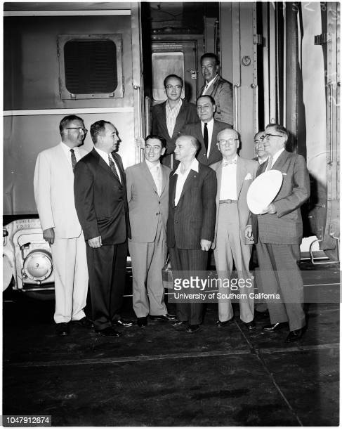 Peruvian delegation at Union Station 26 May 1958 Walter P Coombs Doctor Reynaldo J Carreon Antonia BracaleDoctor Herman Monsante Doctor Victor M...