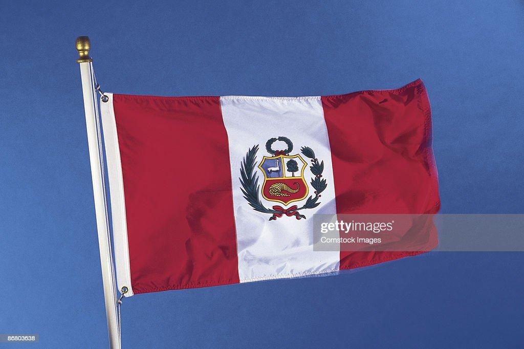 Peruvian flag : Stock Photo