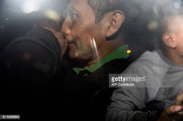 Peruvian former President Ollanta Humala is being taken to the judge to get his sentence in Lima on July 13 2017 Humala and his wife Nadine Heredia...