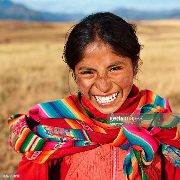 peruvian girl wearing national clothing, the sacred valley - south america stock pictures, royalty-free photos & images