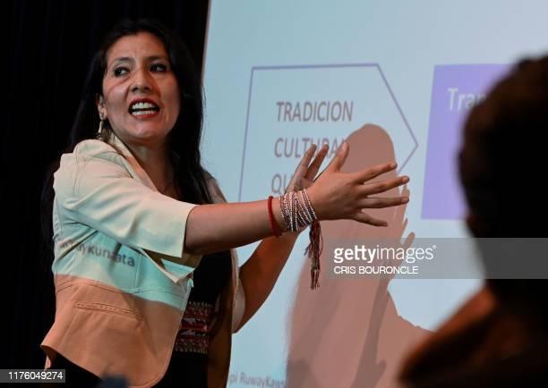 Peruvian Linguistics scholar Roxana Quispe defends her Peruvian Literature Doctorate thesis in Quechua indigenous language at the University of San...