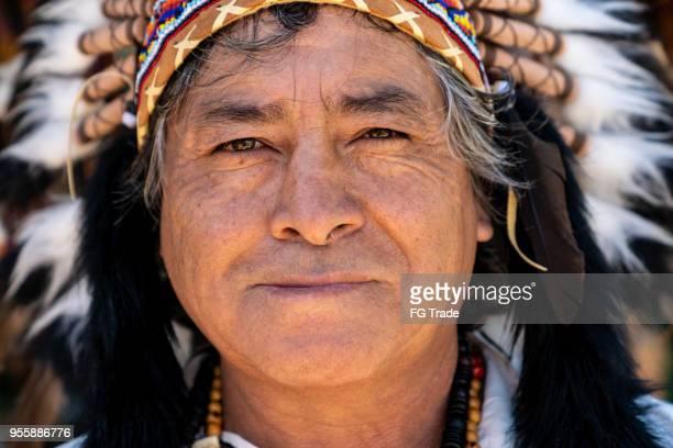 Peruanischen Mann mit traditioneller Kleidung