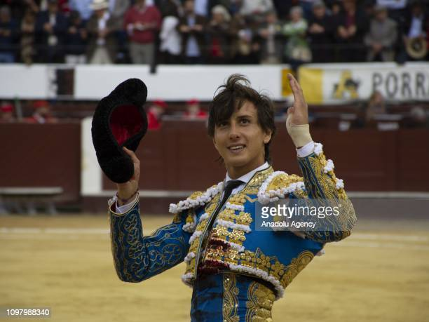Peruvian matador Andres Roca Rey performs during the bullfight in Bogota Colombia on February 11 2019