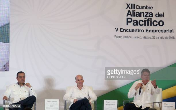 Peruvian Minister of Economy Carlos Oliva Mexican Secretary of Finance and Public Credit Jose Antonio Gonzalez Anaya and Colombian Minister of...