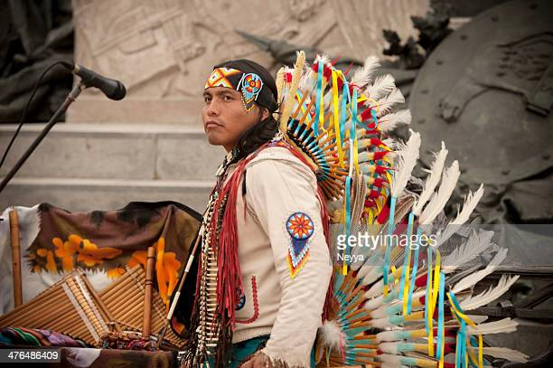 peruvian musician - handsome native american men stock pictures, royalty-free photos & images