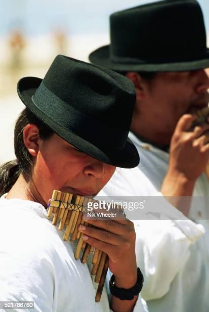 Peruvian Panpipe Player at Venice Beach