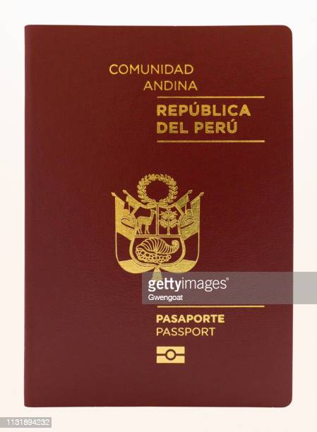 Peruvian passport isolated on a white background