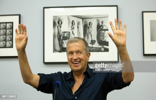 Peruvian Photographer Mario Testino attends a press conference prior to his exhibition 'Mario Testino Undressed / Helmut Newton Unseen / Jean Pigozzi...