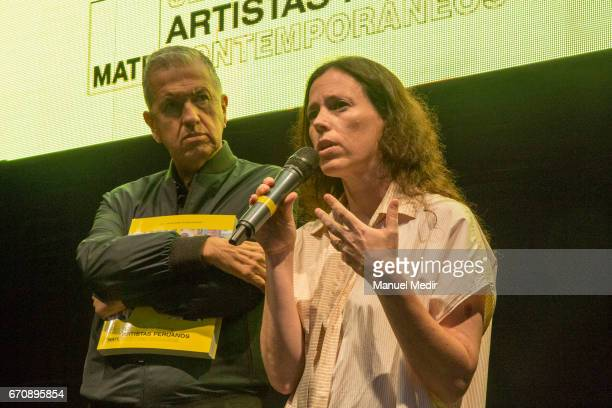 Peruvian photographer Mario Testino attends the presentation of the book 'Sesenta y siete artistas peruanos contemporaneos' published by his...