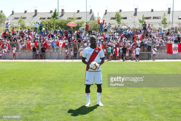 Peruvian player Luis Advincula's Presentation in the Rayo Vallecano soccerteam in Madrid Spanish on 1st August 2018 that returned to ascend to first...