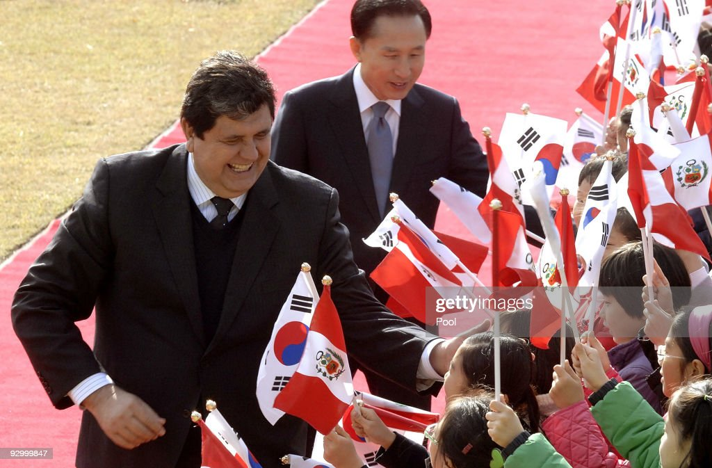 Peruvian President Alan Garcia Visits South Korea : News Photo
