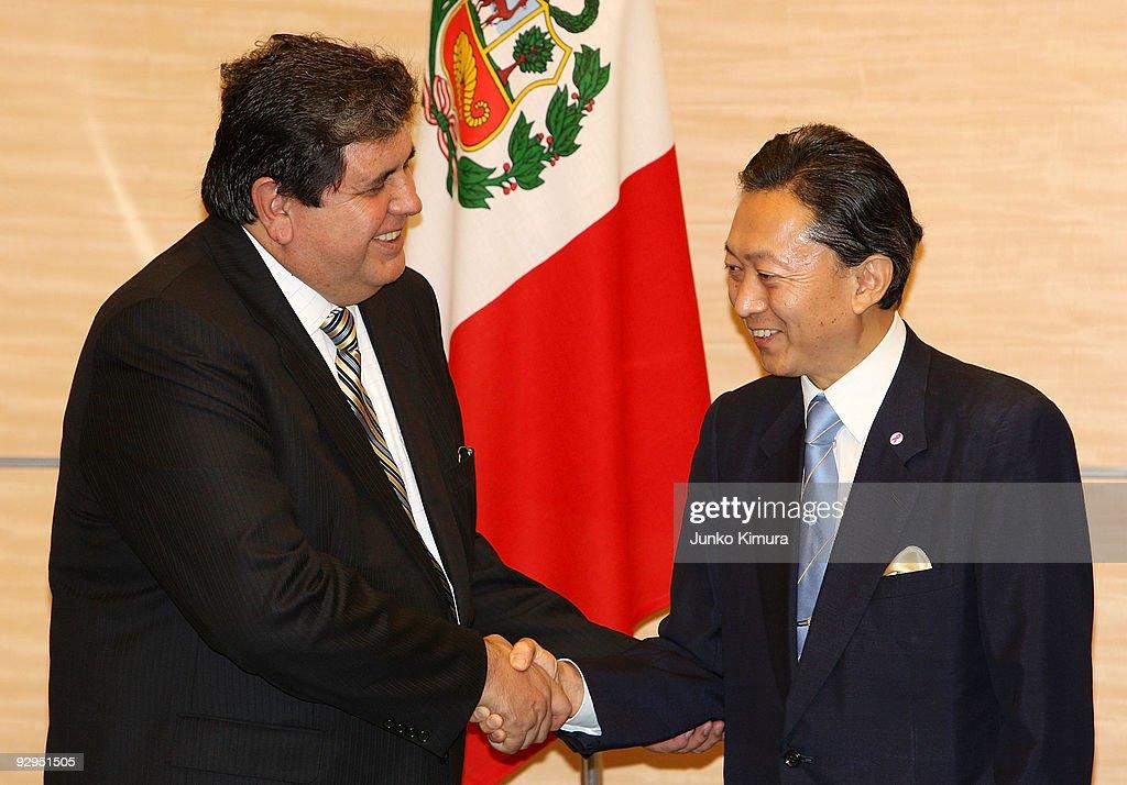 Peruvian President Alan Garcia Visits Japan : News Photo