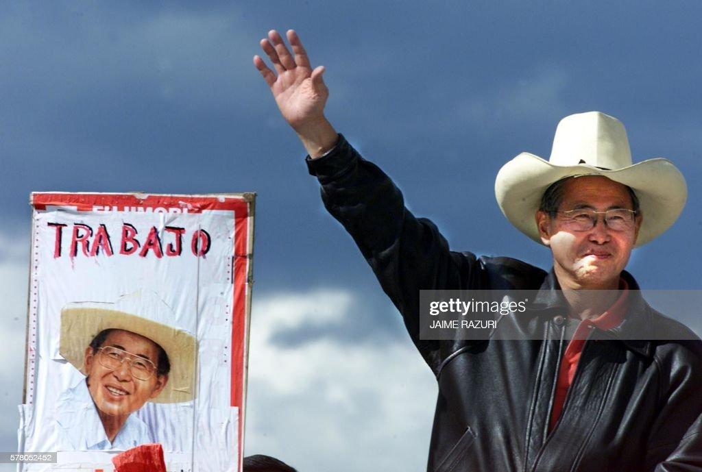 PERU-ELECTIONS-FUJIMORI : News Photo