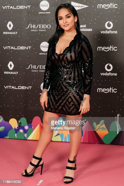 Peruvian singer Daniela Darcourt attends 'Los40 music awards 2019' photocall at Wizink Center on November 08 2019 in Madrid Spain