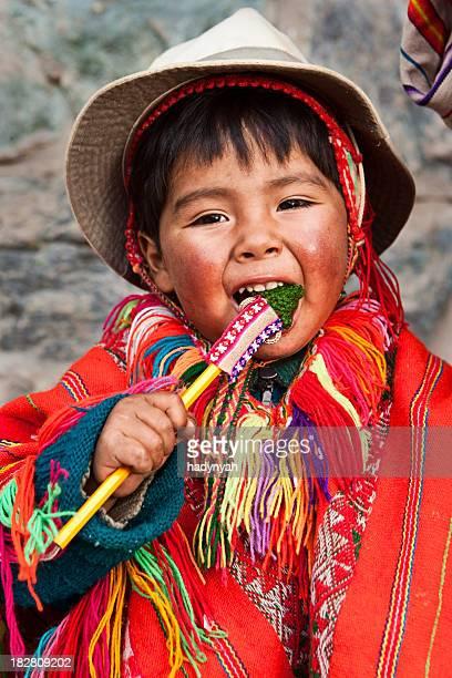 Peruanische mit Ihrem Kind, das Heilige Tal, Cuzco