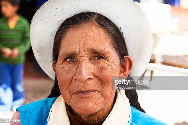 Peruvian woman portrait