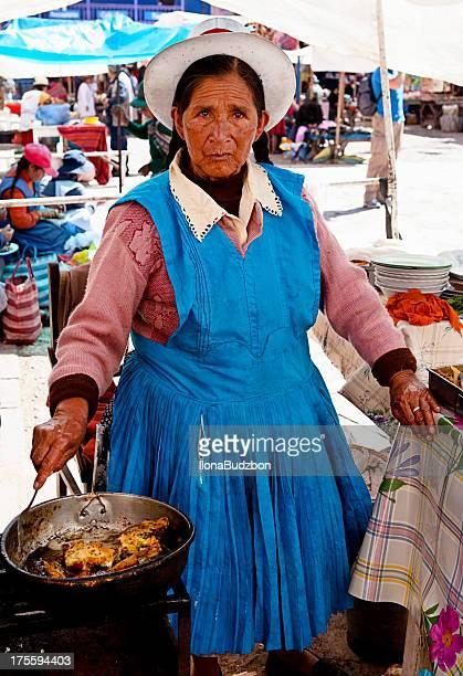 Retrato de mujer peruano