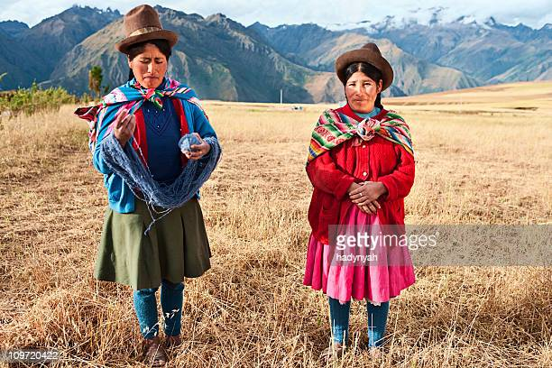 Peruvian woman wearing national clothing, The Sacred Valley