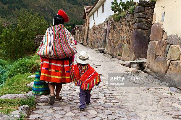 Peruvian woman with her baby, The Sacred Valley, Cuzco