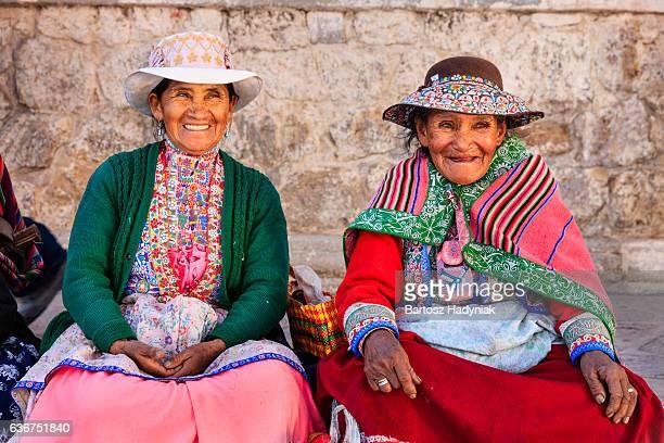 Peruanische Frauen-Kleidung, Chivay, Peru