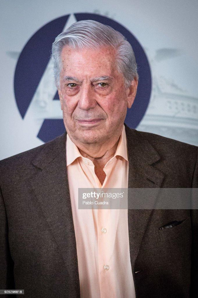 Vargas Llosa Presents 'la Llamada de La Tribu' in Madrid
