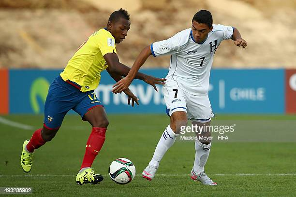 Pervis Estupinan of Ecuador defends Foslyn Grant of Honduras during the FIFA U17 Men's World Cup Chile 2015 group D match between Honduras and...