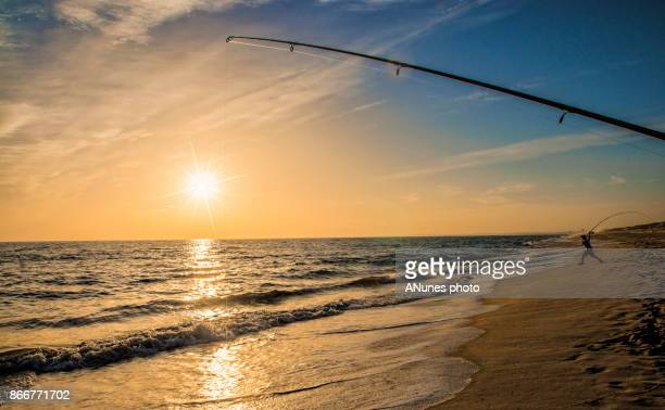 Pescando ao por-do-sol - fishing at sunset