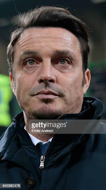 Pescara Calcio coach Massimo Oddo looks on before the Serie A match between FC Internazionale and Pescara Calcio at Stadio Giuseppe Meazza on January...