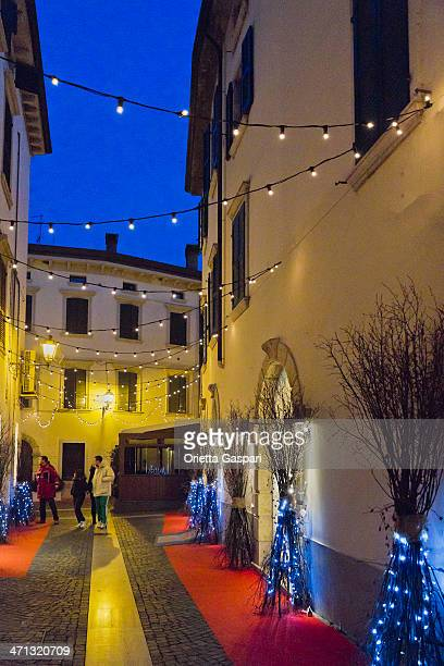 peschiera del garda at christmas - mere noel stock pictures, royalty-free photos & images