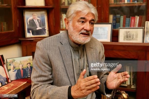 Peshawariâs nephew Mohammad Saleem Jan speaks during an exclusive interview in Peshawar Pakistan on April 05 2020 Jan said that his uncle had earned...