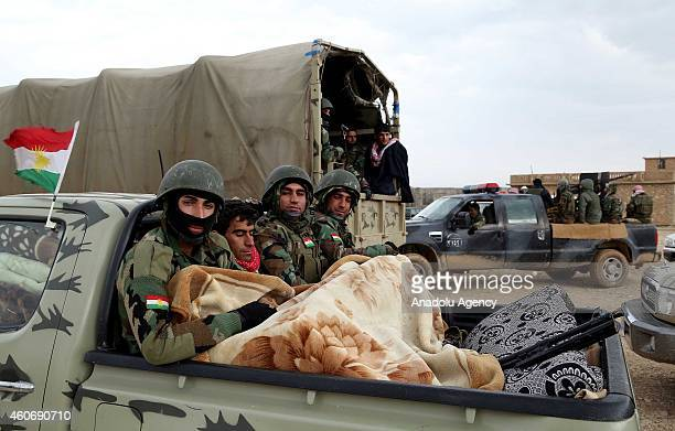 Peshmerga fighters departed from the Zommar district arrive Sinun town of Sinjar district of Mosul to fight against Islamic State of Iraq and Levant...