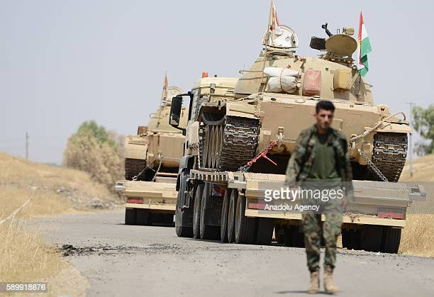 Peshmerga forces are seen as the operations against Daesh terrorists continue to retake Iraq's Mosul from the terrorist organization Daesh in Al...