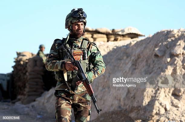 Peshmerga forces belonging to the Kurdish Regional Government mount guard in Umum Sebabi site in Sinjar town of Mosul to watch Daesh activities in...