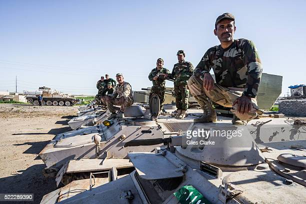 Peshmerga military at the ISIL front lines some 15 km south of Kirkuk The city of Kirkuk is around 150 miles north of Baghdad and the ancient center...
