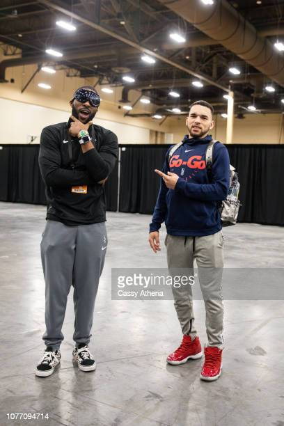 Pe'Shon Howard and Chris Chiozza of the Capital City GoGo arrive to the NBA G League Winter Showcase on December 19 2018 at Mandalay Bay Events...