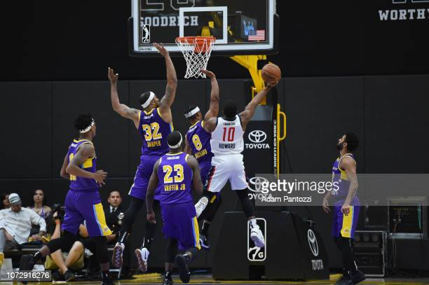 Pe'Shon Howard of the Capital City GoGo goes to the basketball against the South Bay Lakers on December 13 2018 at UCLA Heath Training Center in El...