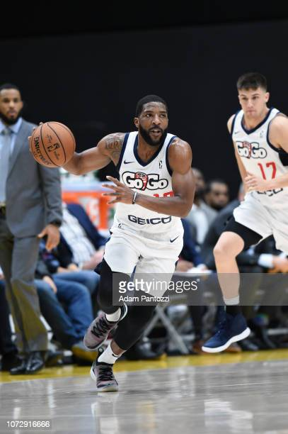 Pe'Shon Howard of the Capital City GoGo handles the basketball against the South Bay Lakers on December 13 2018 at UCLA Heath Training Center in El...