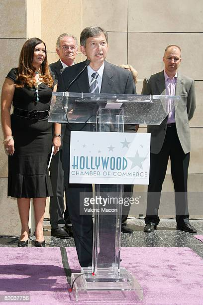 Pesident of Hollywood Chamber of Commerce Leon Gubler attends the Hollywood Chamber of Commerce's unveiling of Friends of The Walk of Fame with...