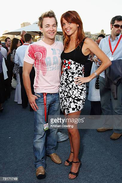 Pesonalites Nikki Osborne and Brodie Young attend the St George OpenAir Cinema Launch screening Stranger Than Fiction at the Birrarung Marr on the...