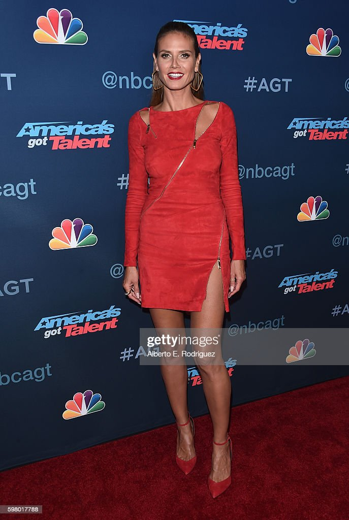 TV pesonality Heidi Klum attends the 'America's Got Talent' Season 11 Live Show at The Dolby Theatre on August 30, 2016 in Hollywood, California.