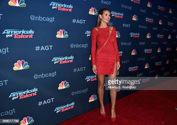 TV pesonality Heidi Klum attends the America's Got Talent Season 11 Live Show at The Dolby Theatre on August 30 2016 in Hollywood California