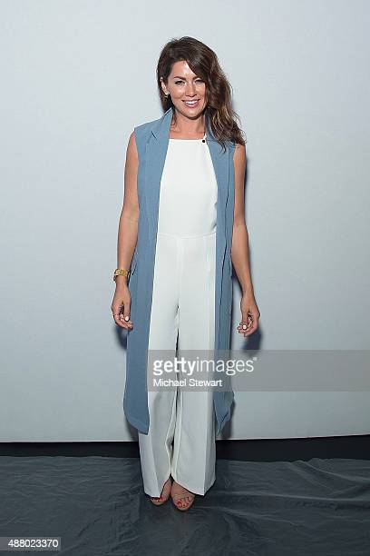 TV pesonality Jillian Harris attends the Son Jung Wan fashion show during Spring 2016 New York Fashion Week at The Dock Skylight at Moynihan Station...