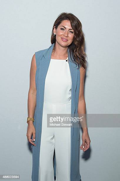 Pesonality Jillian Harris attends the Son Jung Wan fashion show during Spring 2016 New York Fashion Week at The Dock, Skylight at Moynihan Station on...