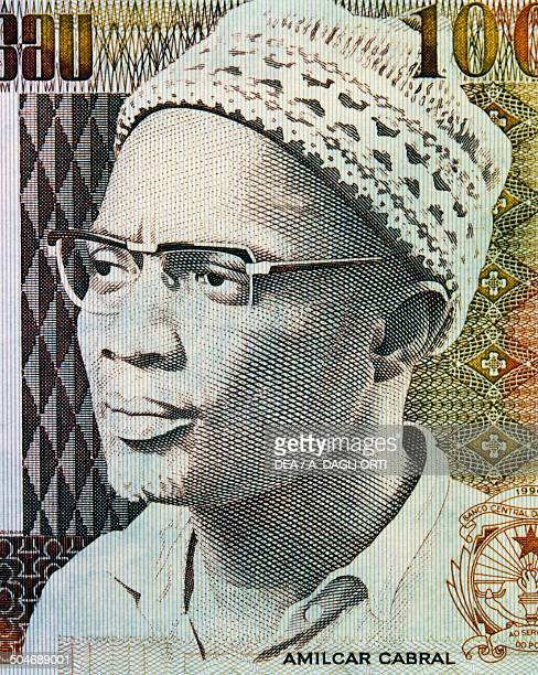 Pesos banknote, 1990-1999, obverse depicting Amilcar Cabral . Guinea-Bissau, 20th century.