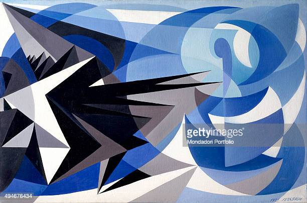 Pessimism and Optimism by Giacomo Balla c 1923 20th Century oil on canvas 115 x 176 cm Italy Lazio Rome National Gallery of Modern and Contemporary...