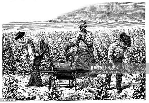 Pesticide pump, illustration