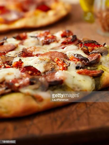 Pesto and Chorizo Sausage Pizza