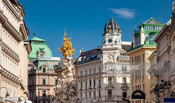 pestsäule - austria stock pictures, royalty-free photos & images
