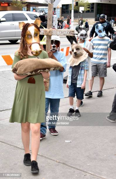 A pet funeral procession at the premiere of 'Pet Sematary' during the 2019 SXSW Conference and Festival at the Paramount Theatre on March 16 2019 in...